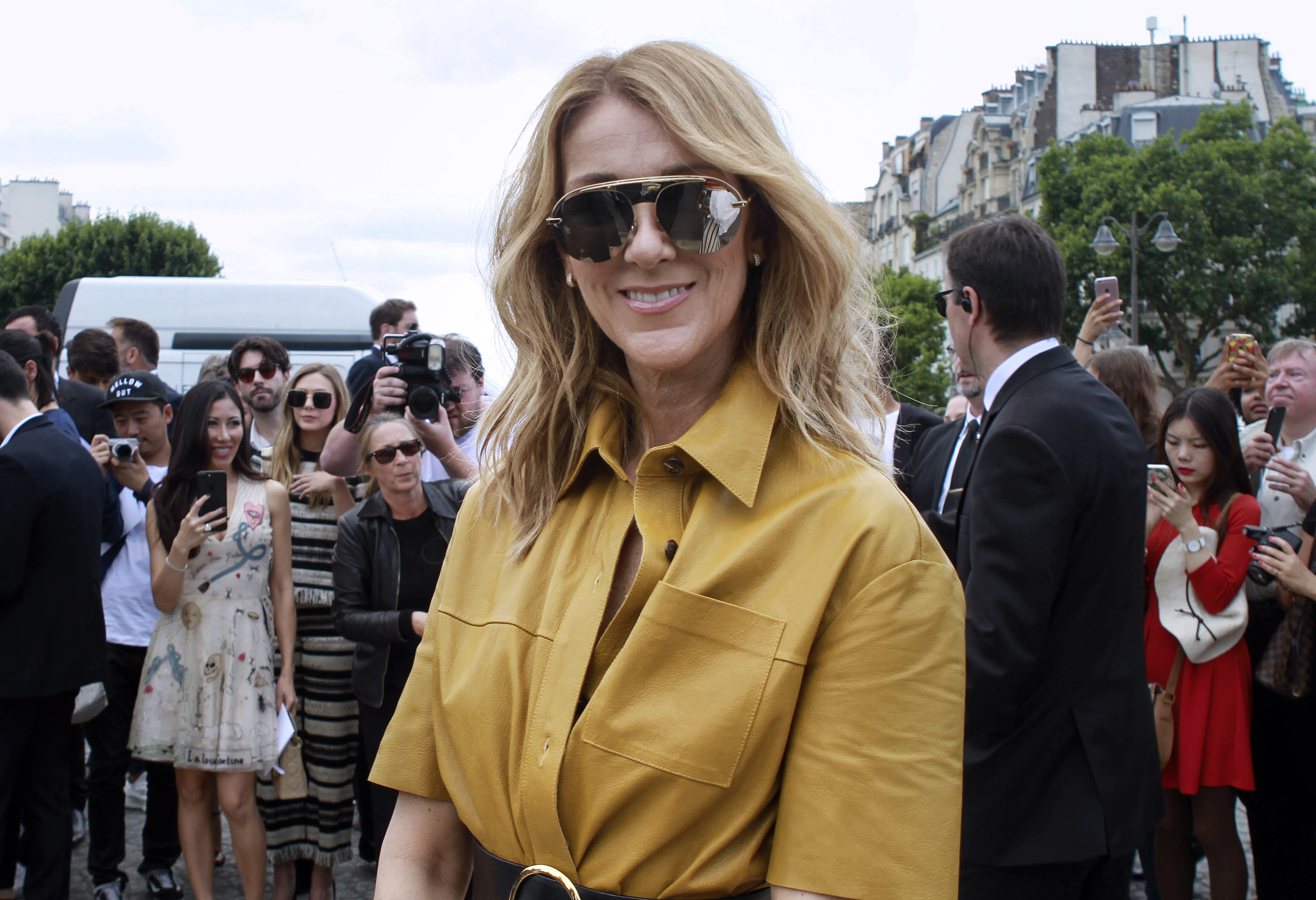 Celine Dion à la Fashion Week, Paris