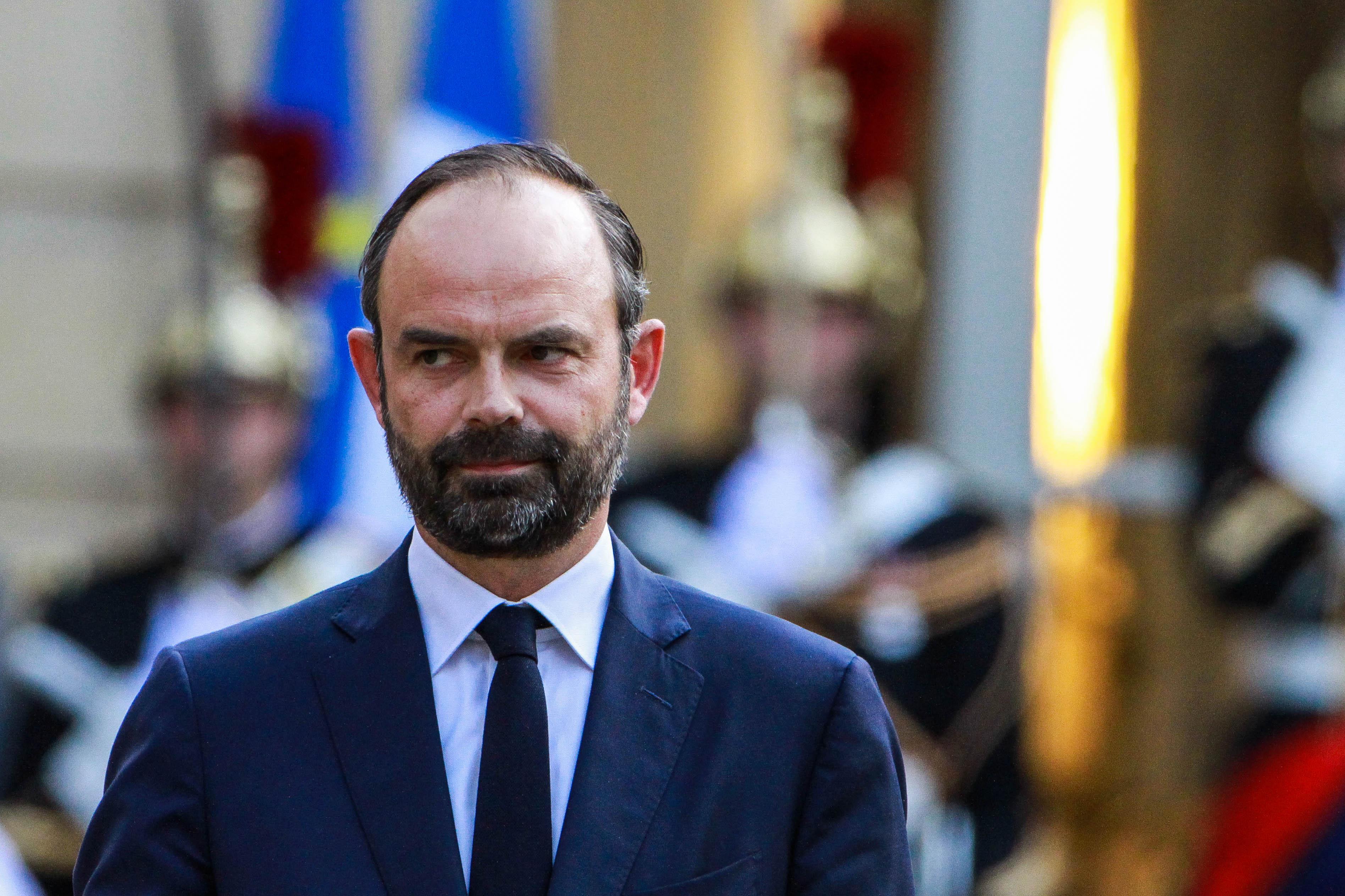 Le Premier Ministre Edouard Philippe lors de la passation de pouvoir - Mai 2017