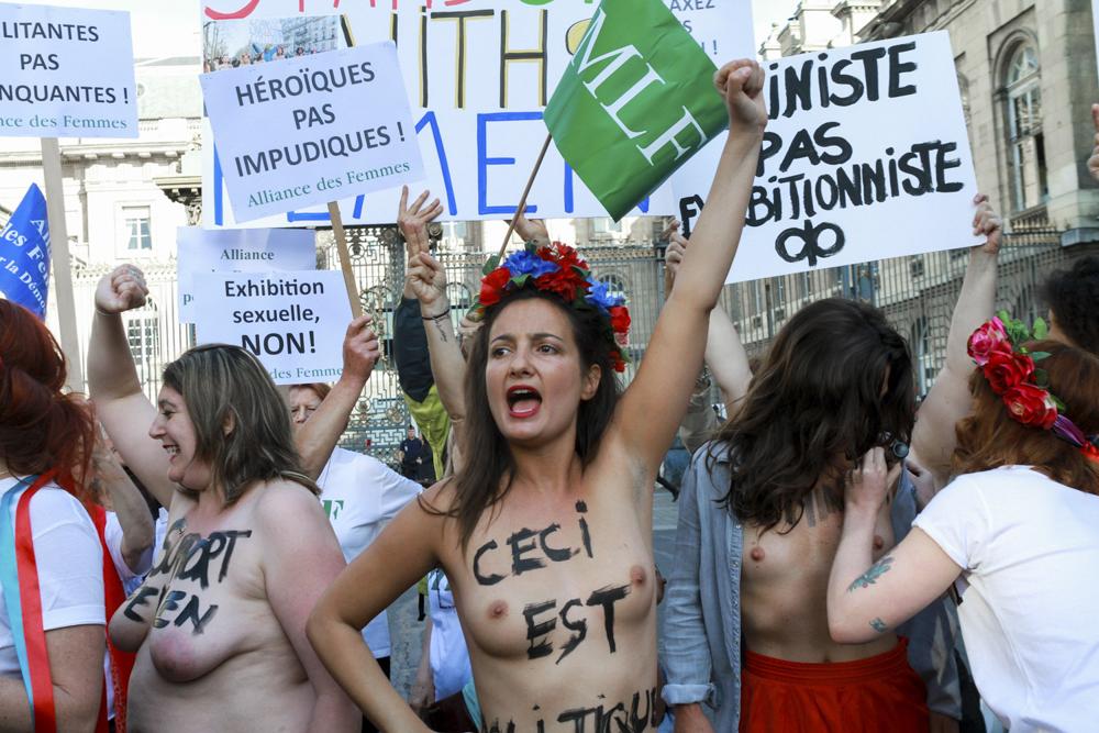 Rassemblement de Femens devant le palais de justice, Paris - Mai 2017