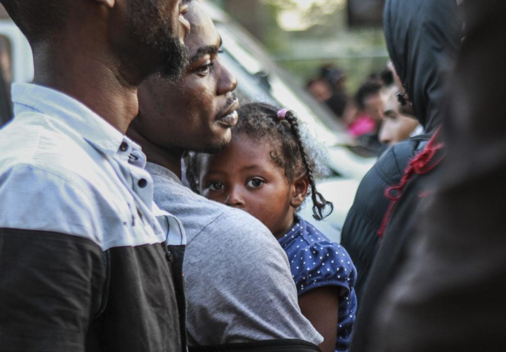 Evacuation des migrants, Porte de la Chapelle à Paris - Juillet 2017