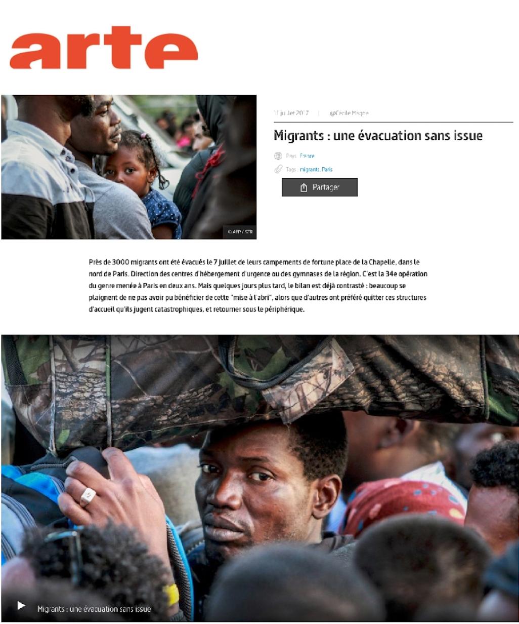 Publication sur Arte web le 11 juillet 2017