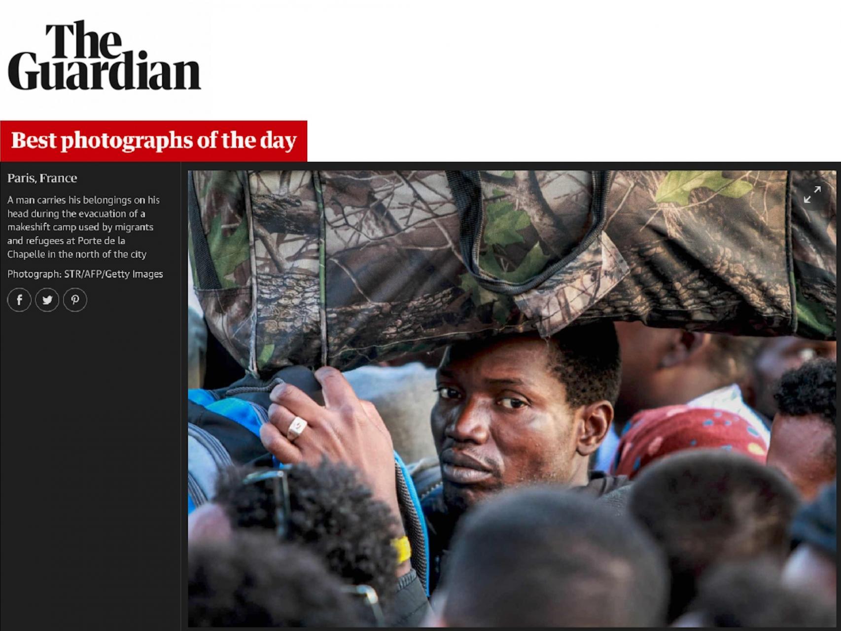 Sélection dans les meilleurs photographies du jour du journal The Guardian le 7 juillet 2017