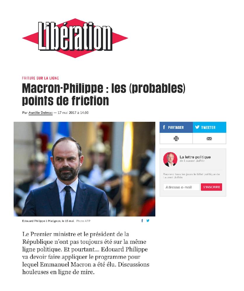 Publication Libération du 17 mai 2017